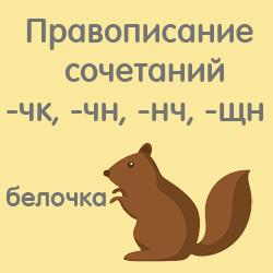 Правописание сочетаний -чк-, -чн-, -нч-, -щн. 8лет (фото 1)
